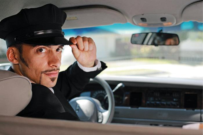 Chauffeur bei der Arbeit